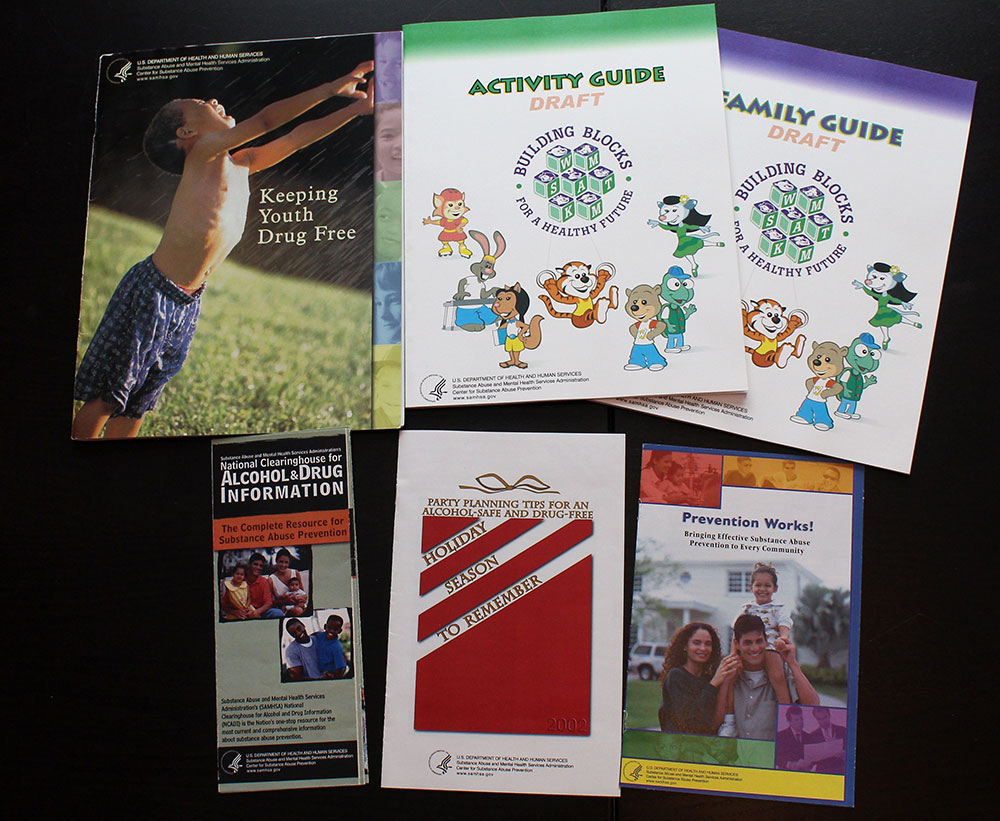 Various US Department of Health and Human Services (DHHS) Booklet Designs