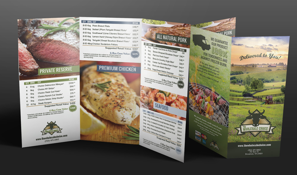 Wholesale Choice Logo and Trifold Brochure