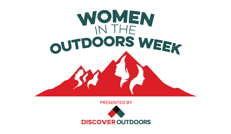 Discover Outdoors Women in the Outdoors Week Logo